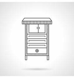 Electrical furnace flat line icon vector
