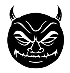 evil smiley in black vector image