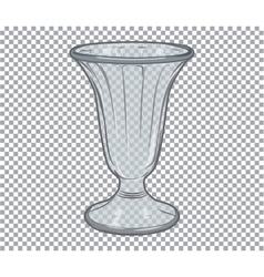 Glass flower vase isolated vector