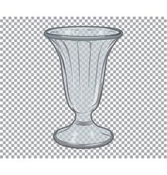 Glass flower vase isolated vector image
