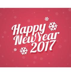 Happy new year 2017 card vector
