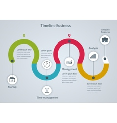 Infographic business with diagrams vector image vector image