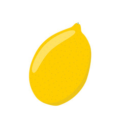 lemon in cartoon flat style ripe citrus fruit vector image vector image