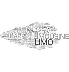 Limo word cloud concept vector
