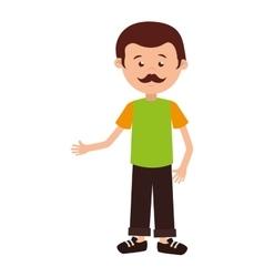Man cartoon adult isolated vector