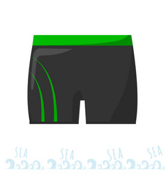 mens swimming trunks swimming costume vacation vector image