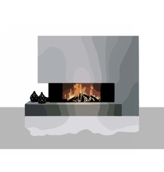 Modern Fireplace vector image