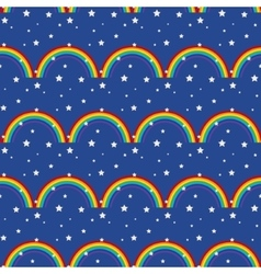 Night sky kid seamless pattern vector