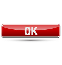 Ok - abstract beautiful button with text vector