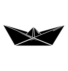 origami boat icon simple black style vector image vector image