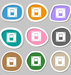 Power switch icon sign Multicolored paper stickers vector image vector image