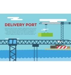 Sea transportation logistic port infographics vector