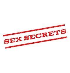 Sex Secrets Watermark Stamp vector image vector image