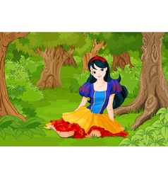 Snow White Girl vector image vector image