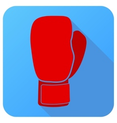 Sport icon with boxing gloves in flat style vector image vector image