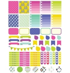 Stickers and label tags colorful set vector