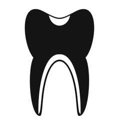 Tooth icon simple style vector