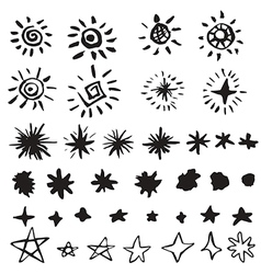Star doodles vector image