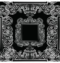 Exquisite baroque rococo mirror frame vector