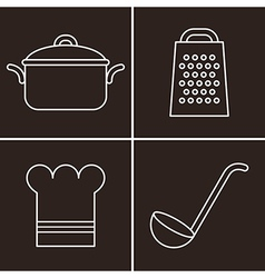 Kitchen symbols vector