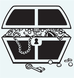 Jewellery and a box vector