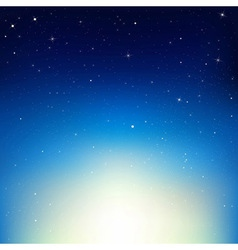 Stars In Night Sky vector image