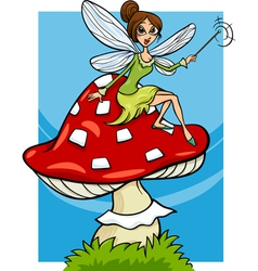 Elf fairy fantasy cartoon vector