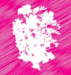 Flowers bouquet stencil vector