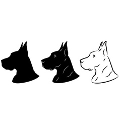 Dog portrait silhouette vector