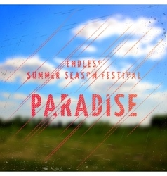 Summer festival paradise badges cards and labels vector