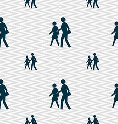 Crosswalk icon sign seamless pattern with vector