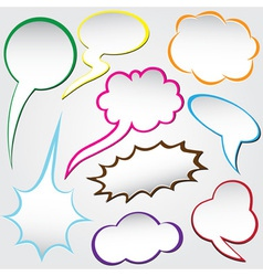 Speech bubble dialog vector
