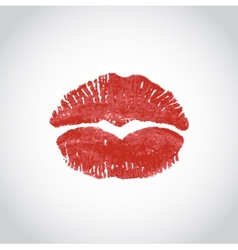 Kiss heart lips imprint vector
