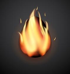 Stylish creative flame easter egg Logo mock up vector image
