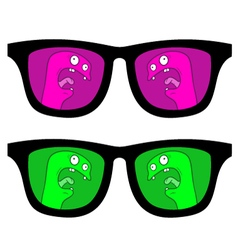 Color glasses vector