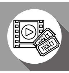 Film reel design vector
