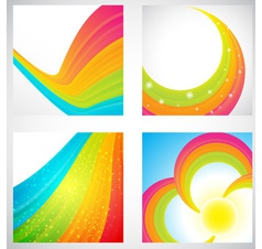 Rainbow backgrounds collection vector image