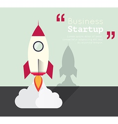 Rocket for business startup concept vector