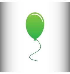 Balloon sign green gradient icon vector