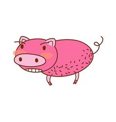 A view of piggy vector