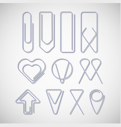 Aluminium paper clips vector