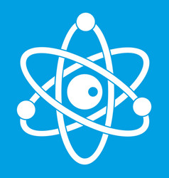 Atomic model icon white vector