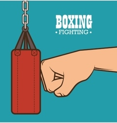 Boxing punching bag isolated vector