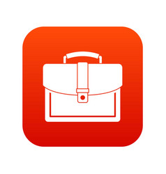 Business briefcase icon digital red vector