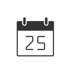 calendar black icon vector image