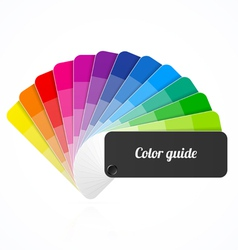 Color palette guide fan catalog vector