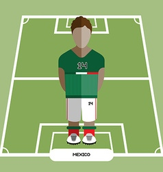 Computer game mexico soccer club player vector