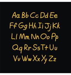 Contour comic style doodle alphabet font vector