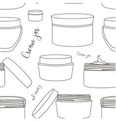 cream jar pattern vector image vector image