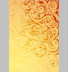 Elegant abstraction with floral swirls vector image vector image
